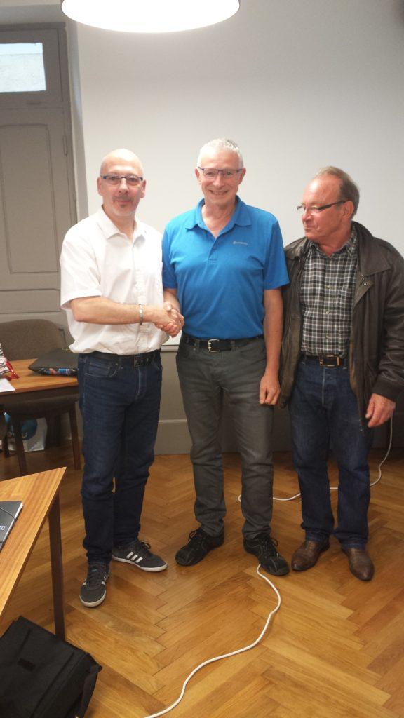 Sylvain Roingeau, Frédéric Gaty et Michel Martin